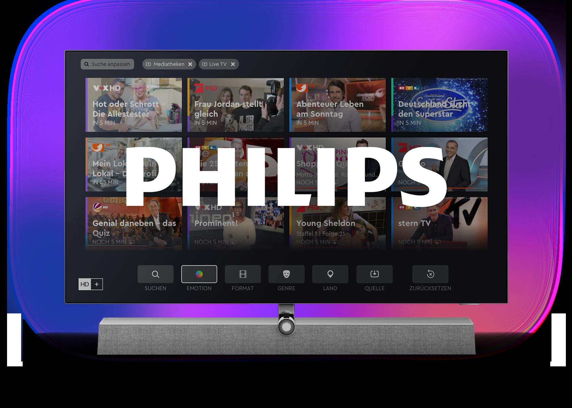 Philips TVs von TP Vision unterstützen künftig den Empfang von HD+ ohne zusätzliche Hardware